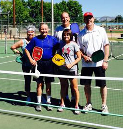 Mayor Berry and wife, Maria, play Pickleball at Los Altos