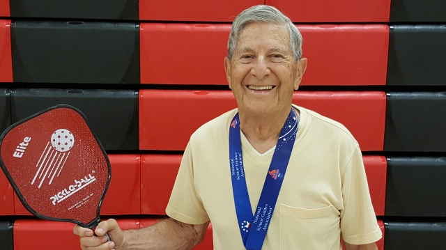 Dick Harrison - 2017 National Senior Games Champion - Singles Mens 90-94