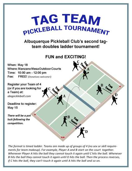 TagTeam Pickleball Flyer